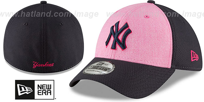 96ccc5b286 New York Yankees 2018 MOTHERS DAY FLEX Pink-Navy Hat