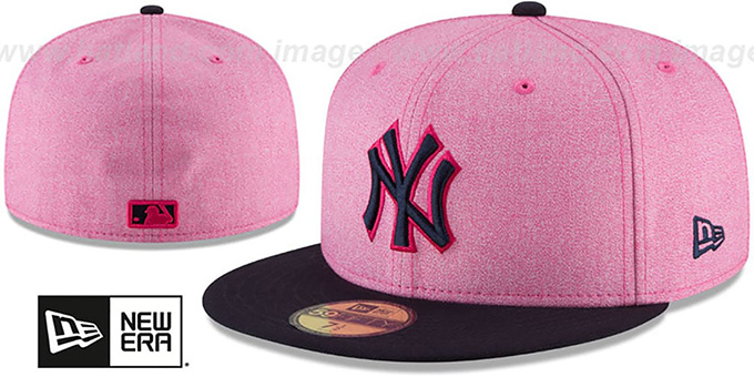 New York Yankees 2018 MOTHERS DAY Pink-Navy Fitted Hat 3c72eaefa1d