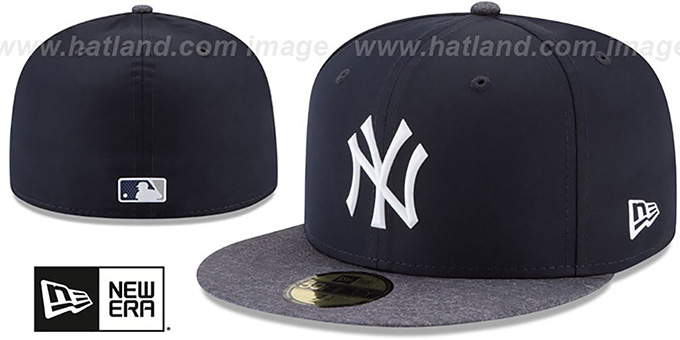 6837f329b6c831 ... New Era. video available. Yankees '2018 PROLIGHT-BP' ROAD Navy-Grey Fitted  Hat by ...