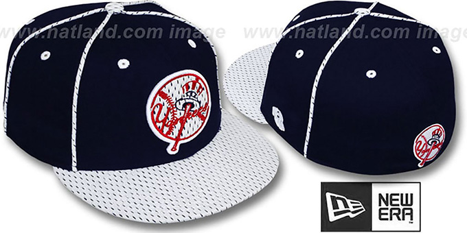 Yankees '2T TEAM-JERSEY' Navy-White Fitted Hat by New Era : pictured without stickers that these products are shipped with
