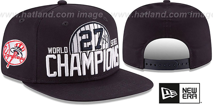 New York Yankees AL EAST WORLD SERIES CHAMPS SNAPBACK Navy Hat c68b178c122