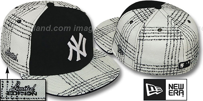 Yankees 'ARMANI GOLD STAR' Fitted Hat by New Era : pictured without stickers that these products are shipped with