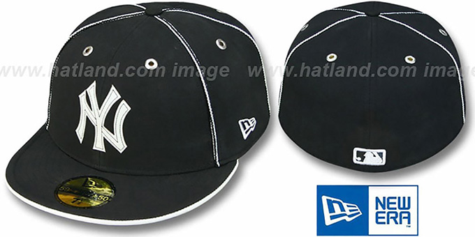 Yankees 'BLACK DaBu' Fitted Hat by New Era : pictured without stickers that these products are shipped with