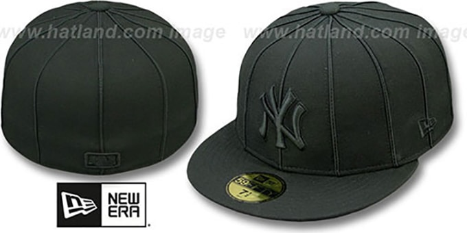 Yankees 'BLACKOUT 12-PACK' Fitted Hat by New Era : pictured without stickers that these products are shipped with
