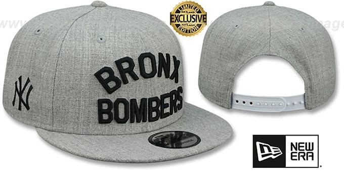 6f571cc7525 Yankees 'BRONX BOMBERS SNAPBACK' Heather Light Grey Hat by ...