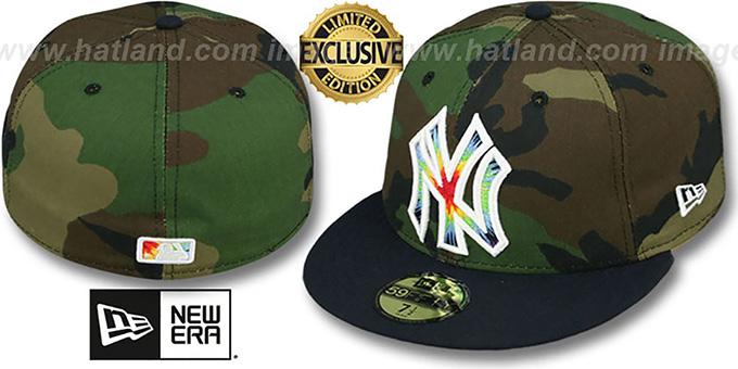 New York Yankees CAMO TYE-DYE INSIDER Army-Navy Fitted Hat 465395cef21
