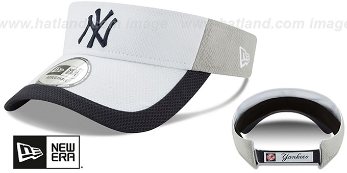 Yankees 'COLOR-BLOCK VISOR' by New Era : pictured without stickers that these products are shipped with