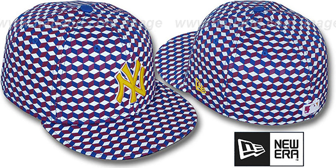 Yankees 'CUE-BERT' Sugar Rush Fitted Hat by New Era : pictured without stickers that these products are shipped with