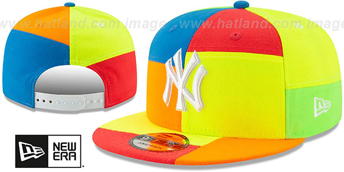Yankees 'DAYGLOW PATCHWORK SNAPBACK' Hat by New Era