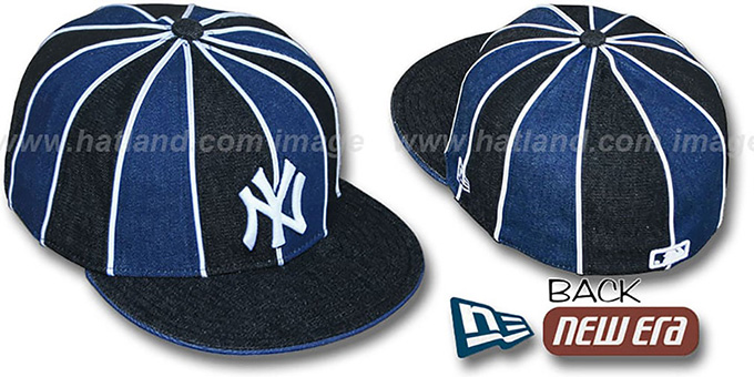 Yankees DENIM '12-PACK' Black-Navy Fitted Hat by New Era