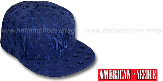 Yankees 'DICE ALL-OVER' Navyout Fitted Hat by American Needle : pictured without stickers that these products are shipped with