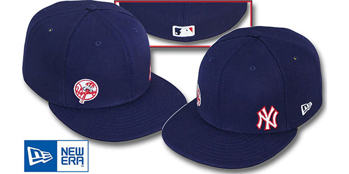 Yankees 'DOUBLE FLAWLESS' Navy Hat by New Era : pictured without stickers that these products are shipped with