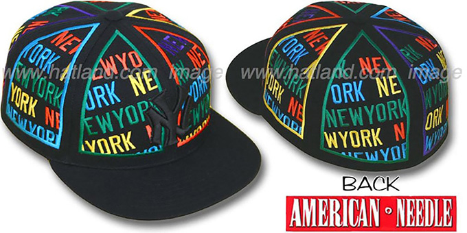 4249db675cf Yankees  ETERNAL ALL-OVER  Black Fitted Hat by American Needle