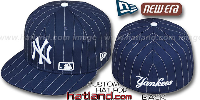 Yankees 'FABULOUS' Navy-White Fitted Hat by New Era : pictured without stickers that these products are shipped with