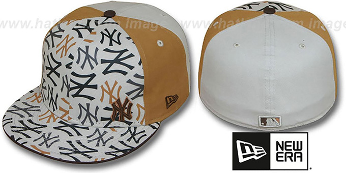 Yankees 'FLAWLESS COLLAGE' Fitted Hat by New Era : pictured without stickers that these products are shipped with