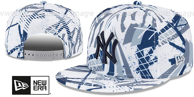 Yankees 'GEOMET TRICK SNAPBACK' Hat by New Era : pictured without stickers that these products are shipped with