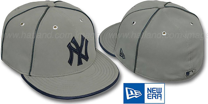 Yankees 'GREY DaBu' Fitted Hat by New Era : pictured without stickers that these products are shipped with