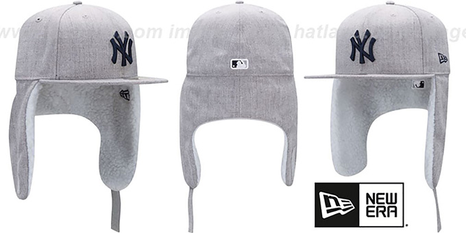 Yankees 'HEATHER-DOGEAR' Light Grey Fitted Hat by New Era : pictured without stickers that these products are shipped with