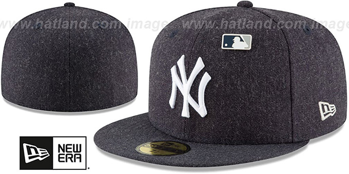 ce37e280f1c ... New Era. video available. Yankees  HEATHERED-PIN  Navy Fitted Hat by ...