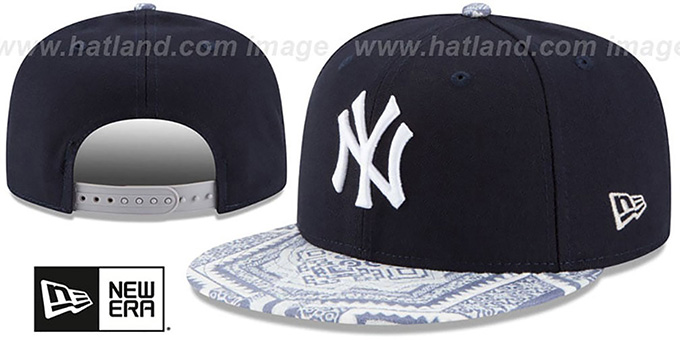 Yankees 'KALEIDOVIZE SNAPBACK' Navy Hat by New Era : pictured without stickers that these products are shipped with