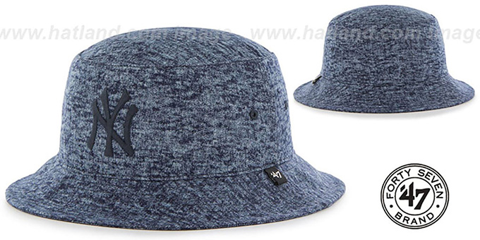 Yankees 'LEDGEBROOK BUCKET' Navy Hat by Twins 47 Brand