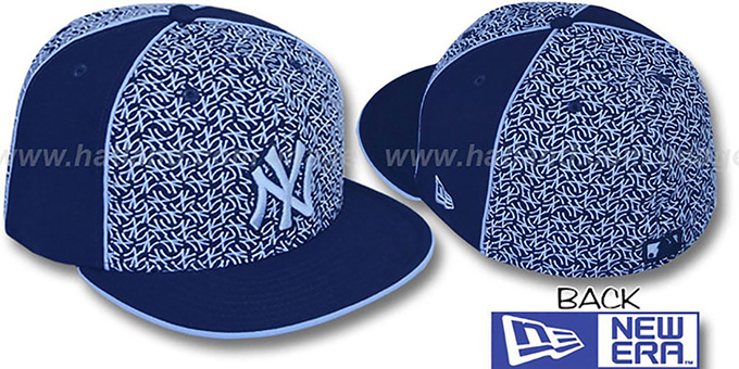 Yankees 'LOS-LOGOS' Navy-Columbia Fitted Hat by New Era : pictured without stickers that these products are shipped with