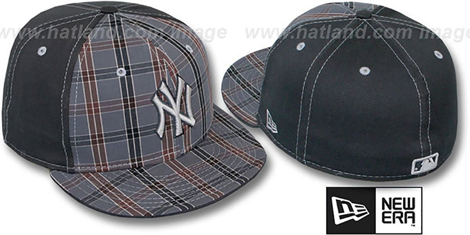 Yankees 'MacFADYEN' Grey Fitted Hat by New Era : pictured without stickers that these products are shipped with