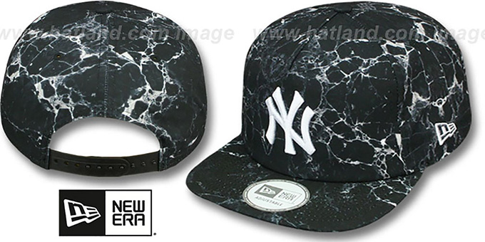Yankees 'MARBLE MIX SNAPBACK' Hat by New Era : pictured without stickers that these products are shipped with