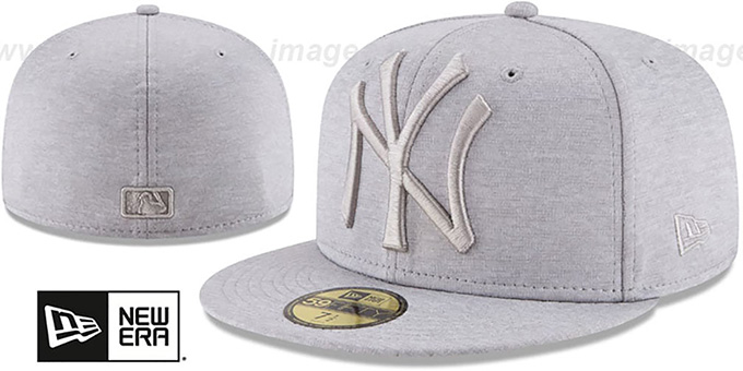 01768294651 Yankees  MEGATONE  Grey Shadow Tech Fitted Hat by New Era