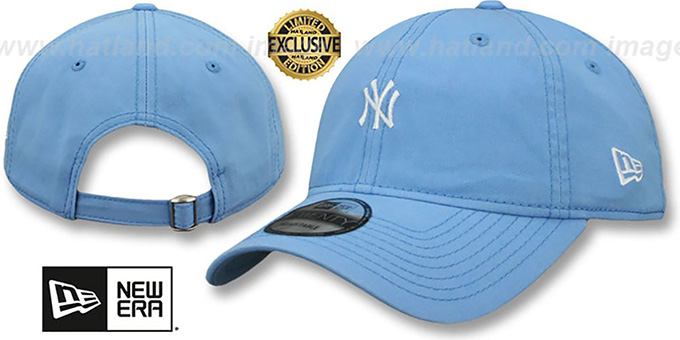 ac60a101ec4da Yankees  MINI BEACHIN STRAPBACK  Light Blue Hat by New Era