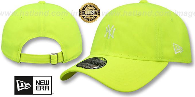59307eac3e4 New York Yankees MINI BEACHIN STRAPBACK Neon Yellow Hat