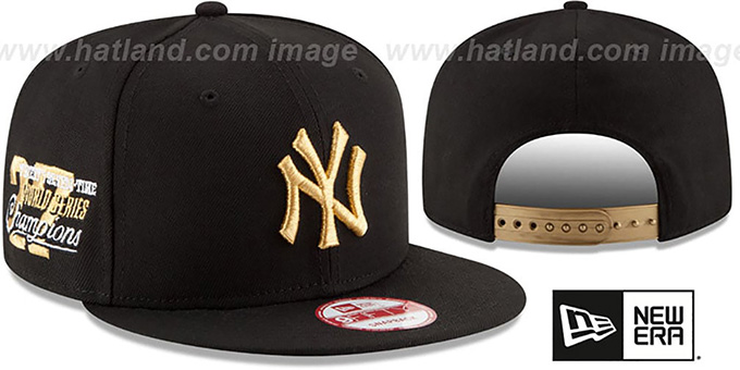 Yankees 'MLB STAR-TRIM SNAPBACK' Black Hat by New Era : pictured without stickers that these products are shipped with