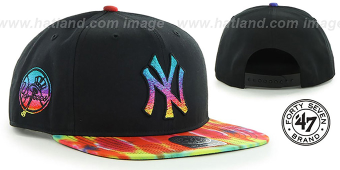 Yankees 'MORRISON SNAPBACK' Hat by Twins 47 Brand : pictured without stickers that these products are shipped with