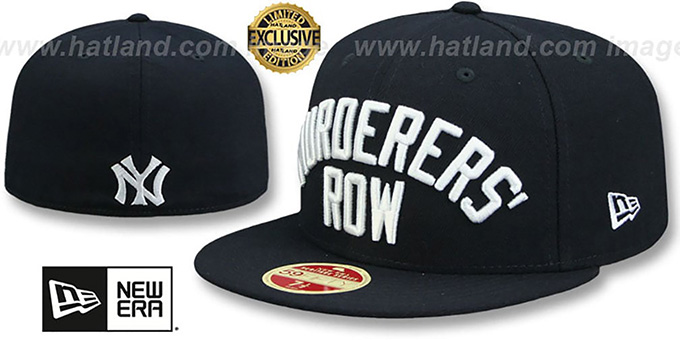 91761ba158292c Yankees 'MURDERERS ROW CALLOUT' Navy Fitted Hat by New Era