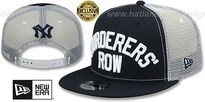 049366da5e4 Yankees  MURDERERS ROW MESH-BACK SNAPBACK  Navy-White Hat by New Era