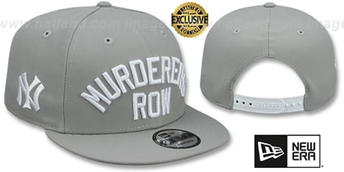 aab451082e018 Yankees  MURDERERS ROW SNAPBACK  Light Grey Hat by New Era