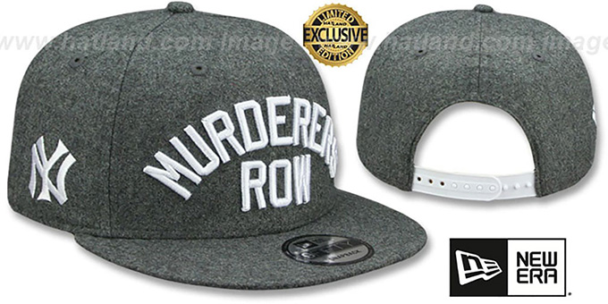 Yankees 'MURDERERS ROW SNAPBACK' Melton Grey Hat by New Era