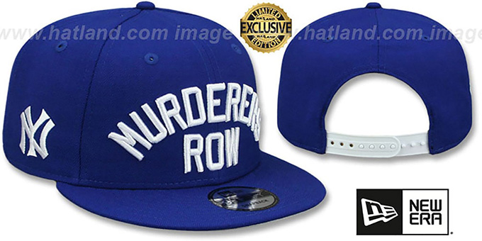 11cb3d07 Yankees 'MURDERERS ROW SNAPBACK' Royal Hat by New Era