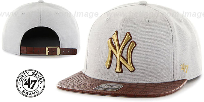 Yankees 'ORINOCO STRAPBACK' Hat by Twins 47 Brand : pictured without stickers that these products are shipped with