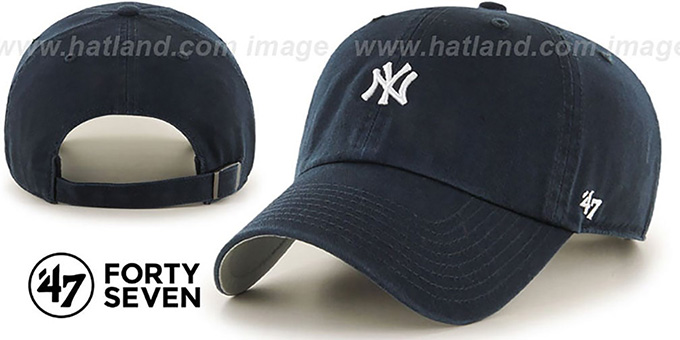 Yankees 'POLO STRAPBACK' Navy Hat by Twins 47 Brand : pictured without stickers that these products are shipped with