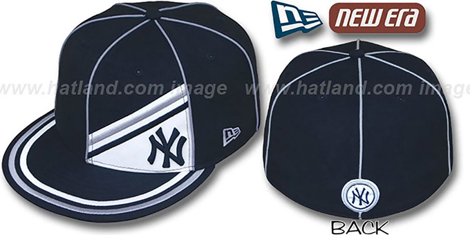 Yankees 'PROREV' Fitted Hat by New Era : pictured without stickers that these products are shipped with