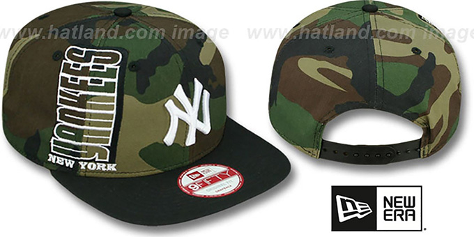 Yankees 'RALLYMARK SNAPBACK' Army-Black Hat by New Era : pictured without stickers that these products are shipped with
