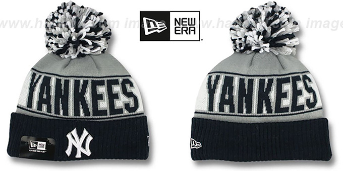 Yankees 'REP-UR-TEAM' Knit Beanie Hat by New Era : pictured without stickers that these products are shipped with