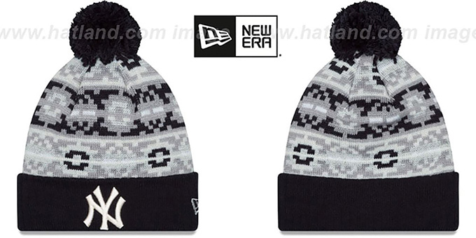 Yankees 'RETRO CHILL' Knit Beanie Hat by New Era : pictured without stickers that these products are shipped with