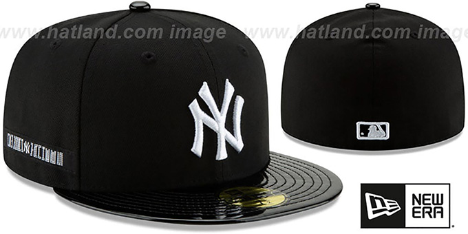 cc4c60cb62a ... New Era. hot hats! Yankees  RETRO-HOOK  Black-White Fitted Hat by ...