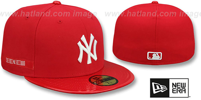 New York Yankees RETRO-HOOK Red-White Fitted Hat by New Era a1d216a429e