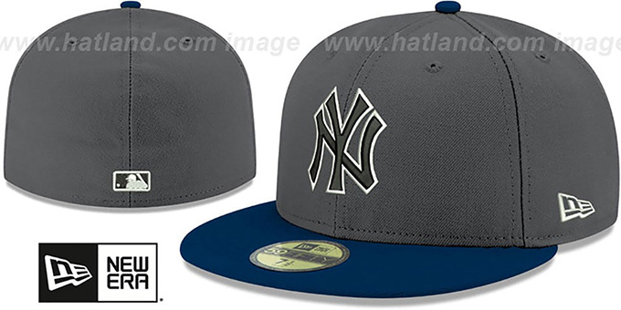 Yankees 'SHADER MELT-2' Grey-Navy Fitted Hat by New Era : pictured without stickers that these products are shipped with