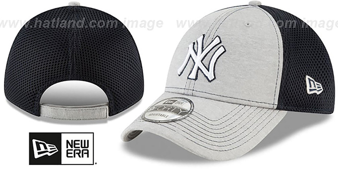 Yankees 'SHADOW TURN STRAPBACK' Grey-Navy Hat by New Era : pictured without stickers that these products are shipped with
