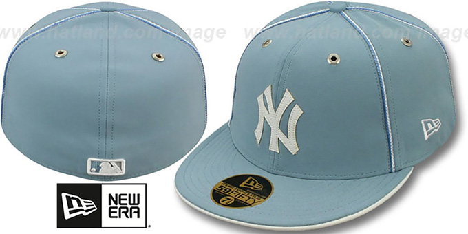 Yankees 'SKY BLUE DaBu' Fitted Hat by New Era : pictured without stickers that these products are shipped with