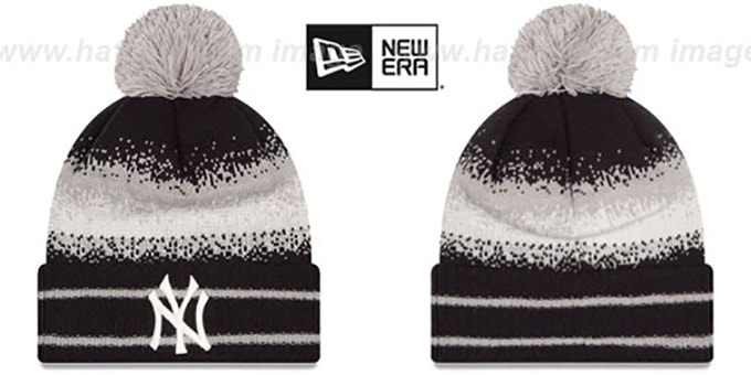 Yankees 'SPEC-BLEND' Knit Beanie Hat by New Era : pictured without stickers that these products are shipped with